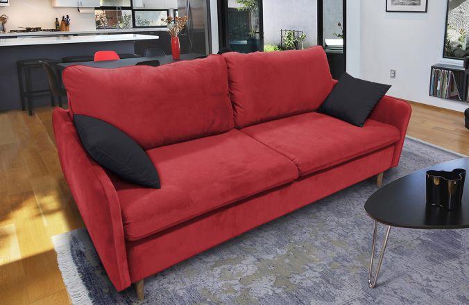 Прямой диван Бэст V. Ткань дивана: Velutto 38; ткань подушек: Velutto 34