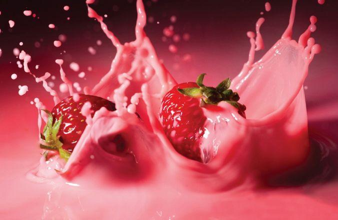 Вариант фотопечати: Клубника в йогурте
