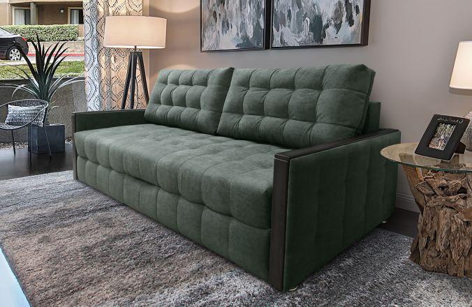 Прямой  диван Луксор Ультра. Ткань: ULTRA OLIVE