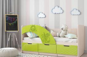 Кровать Юниор-3 (салатовая)