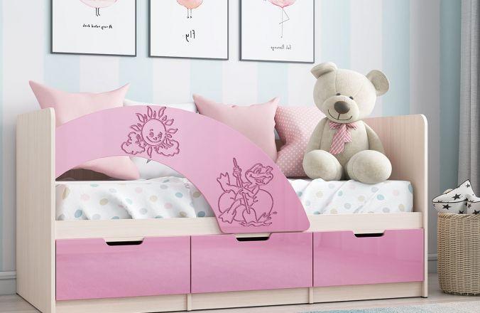 Кровать Юниор-3 (розовая)
