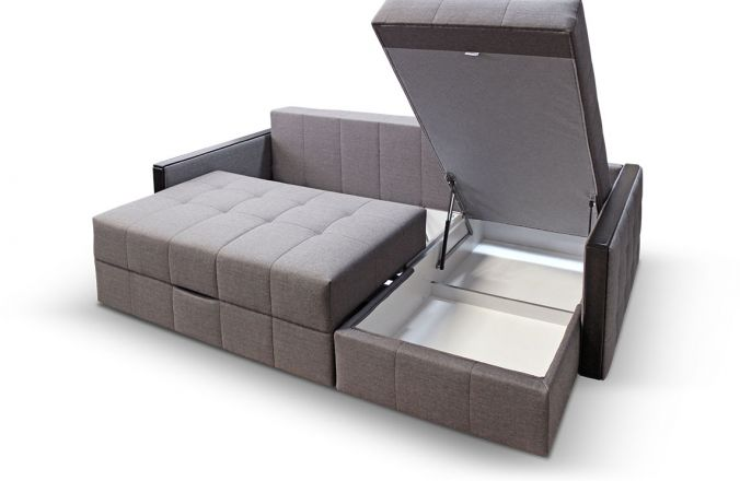 Угловой диван тик-так Луксор. Ящик для белья