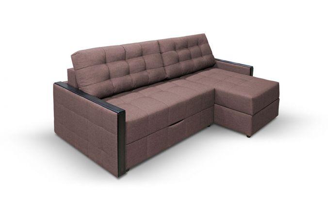 Угловой диван тик-так Луксор. Choco