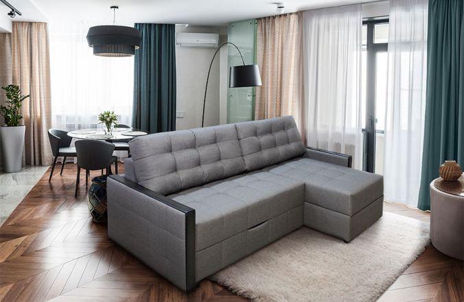 Угловой диван тик-так Луксор в интерьере