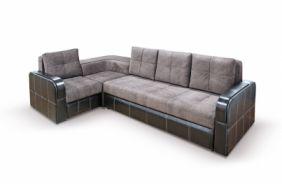 Угловой диван Адель с накладками. Choco