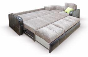 Угловой диван Адель с накладками. Спальное место