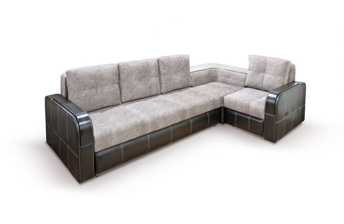 Угловой диван Адель с накладками. Beige