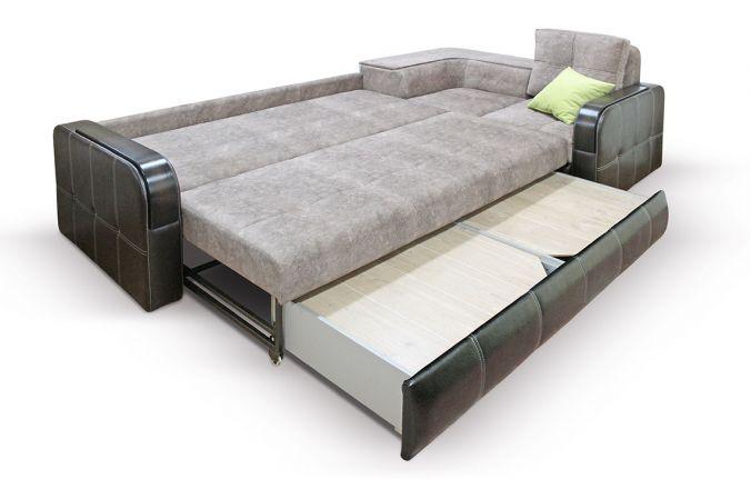 Угловой диван Адель с накладками. Ящик для белья