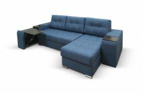 Угловой диван с полками Риф. Sinii