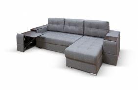 Угловой диван с полками Риф. Grafit
