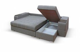 Угловой диван с полками Риф. Ящик для белья
