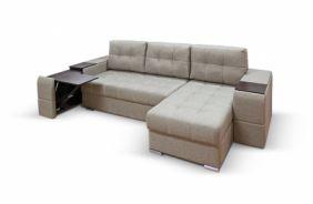 Угловой диван с полками Риф. Beige