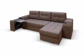 Угловой диван с полками Риф. Choco