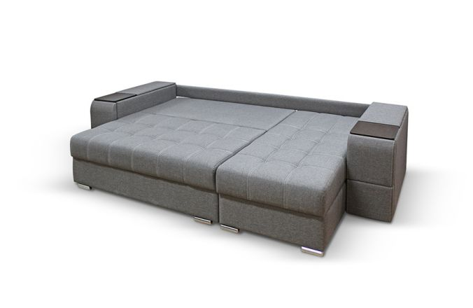 Угловой диван с полками Риф. Спальное место
