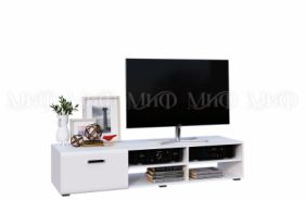 Белая глянцевая ТВ тумба Рио
