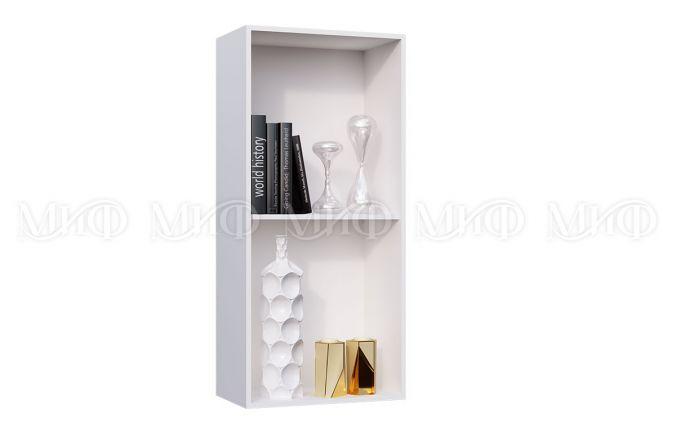 Навесной шкаф пенал со стеклом Рио. Внутреннее наполнение