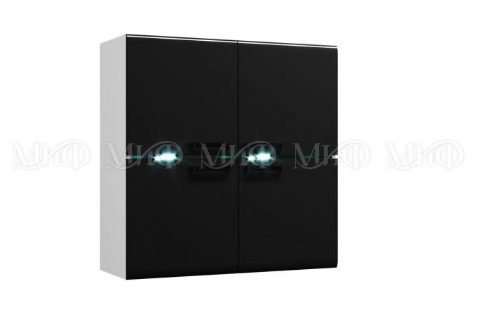 Навесной черный шкаф Квадро