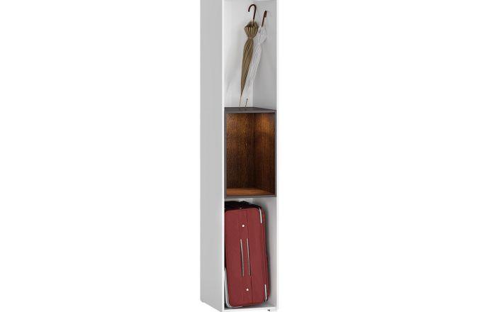 Узкий шкаф пенал с полками Мадера