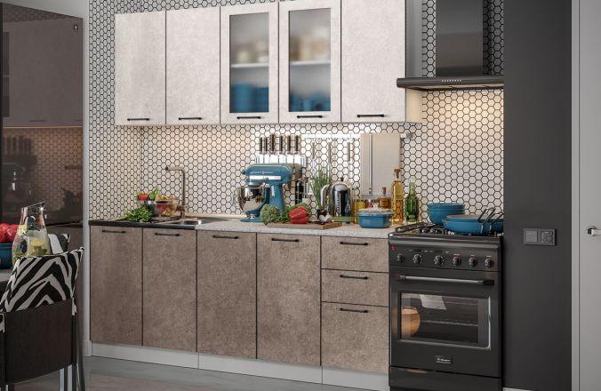 Кухня Техно бетон. Готовое решение 2,0