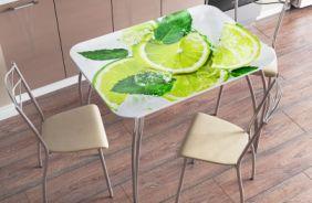 Стол фотопечать лайм в интерьере