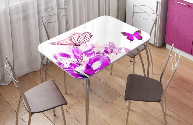 Стол фотопечать бабочки в интерьере