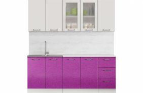 Кухня Техно фиолетовый металлик. Готовое решение 2,0