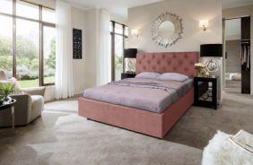 Кровать Мелиса Ромб. Ткань Veluttto 55