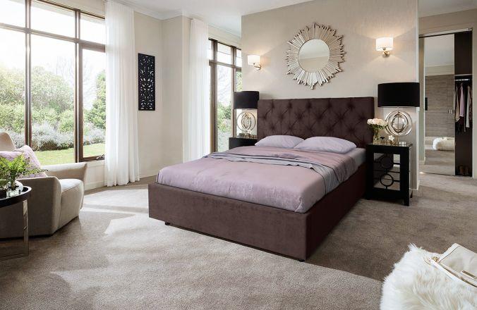 Кровать Мелиса Ромб. Ткань Veluttto 36
