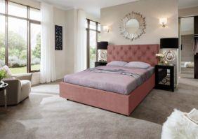Кровать Мелиса Ромб 1,4 (Д) с изголовьем