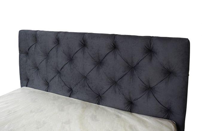 Черная кровать со спинкой Мелиса Ромб 1,6 м. (Д)