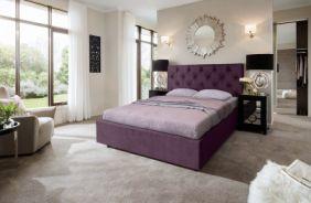 Кровать Мелиса Ромб. Ткань Veluttto 35