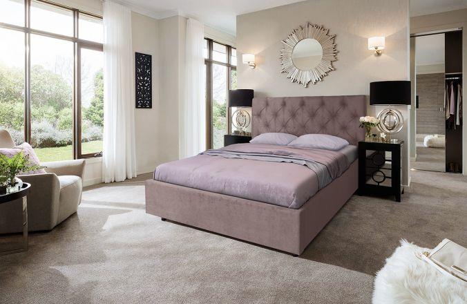 Кровать Мелиса Ромб. Ткань Veluttto 06
