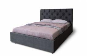 Черная двуспальная кровать Мелиса Ромб 2,0 м. (Д)