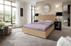 Кровать Мелиса Ромб. Ткань Veluttto 02