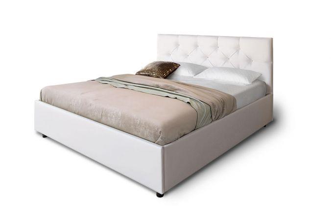 Кровать в белом цвете Лаура 1,4 м. (Д)