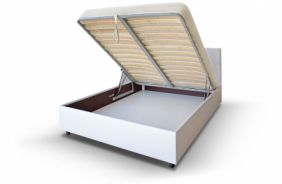 Подъемная белая кровать Лаура 1,6 м. (Д)