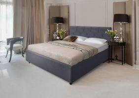 Белая кровать Лаура 1,6 м. (Д)