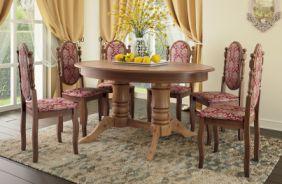 Обеденный стол Дуэт 1 Стул Классика 5 (Орех)