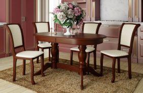 Обеденный стол Мираж 2 Стул Кабриоль (итальянский орех)