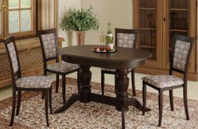 Обеденный стол Мираж 3 Стул Лотос (темный орех)
