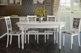 Обеденный стол Милан 2 Стул Классика 4 (венге)
