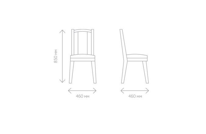 Габаритные размеры стула
