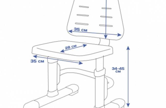 Комплект парта + стул RIFFORMA SET-07 LUX