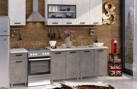 Кухня Рио бетон светлый/темный 1,8 в интерьере