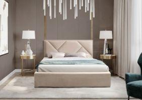 Мягкая двуспальная кровать
