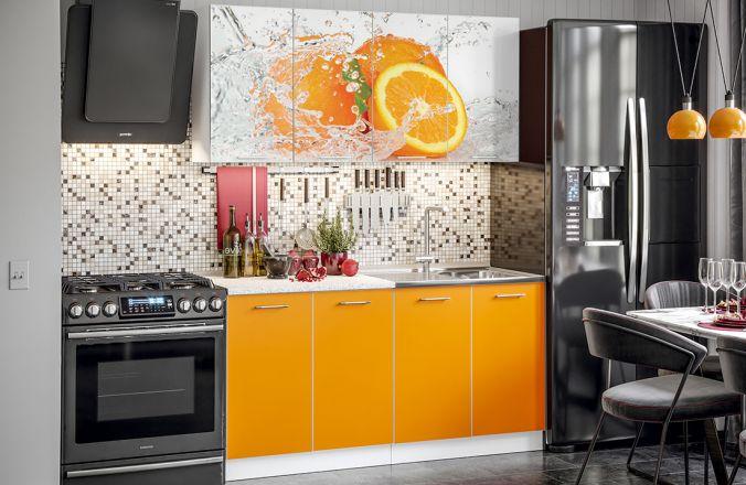 Кухня Фортуна фотопечать Апельсин. Готовое решение 1,6