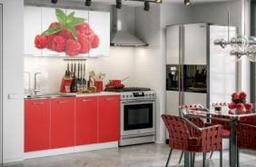 Кухня Фортуна фотопечать Малина. Готовое решение 1,6