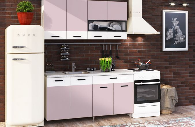 Кухня Рио Розовая 1,6 м