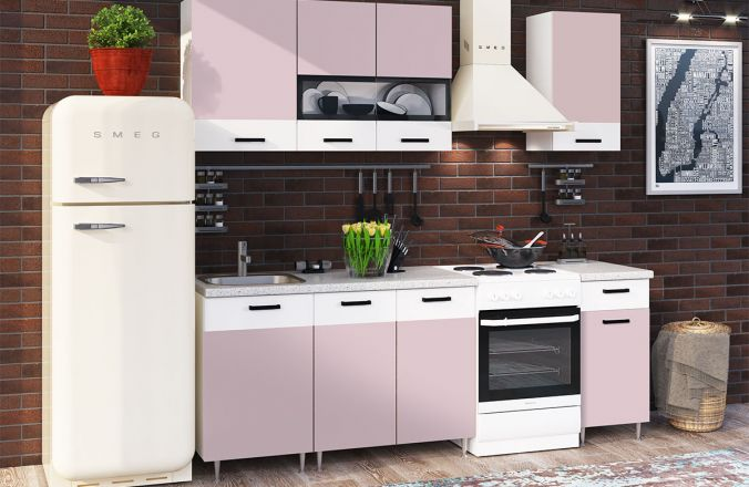Кухня Рио Розовая 1,7 м