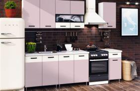 Кухня Рио Розовая 2,0 в интерьере